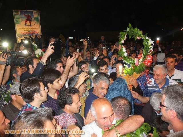گزارشی تصویری از استقبال از هیمالیانوردان در تبریز