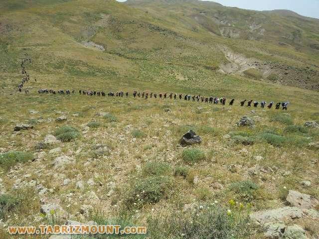 گزارش صعود مستقل بانوان استان آذربایجان شرقی به قله چینیر بزقوش 95/4/25