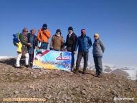 برنامه کارگروه بانوان هیات کوهنوردی وصعودهای ورزشی شهرستان میانه به مناسبت گرامیداشت ۹ دی