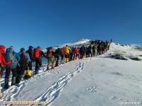 گزارش هفدهمین صعود کوهنوردان شهرستان مرند به  قله سانبران