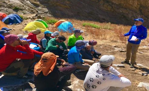 گزارش تصویرى / از دوره مربیگرى درجه سه کوهپیمایى (دوره اول) ١ الى ۵ مرداد ١٣٩۶ / استان مازندران؛ تخت سلیمان