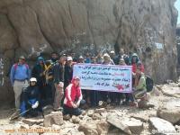 صعود کوهنوردان بخش گوگان ( شهرستان آذرشهر) به قله سبلان