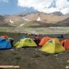 صعود کوهنوردان شهرستان کلیبر برفراز علم کوه بام مازندران