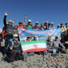 صعود کوهنوردان باشگاه کوهنوردی آذربایجان به قله آراگاتس