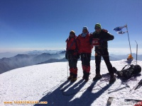 صعود کوهنوردان تبریز به قله کازبک
