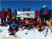 گزارش  برنامه صعود زمستانه به قله جام سهند