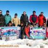 به مناسبت بزرگداشت دهه مبارک فجر ، کوهپیمایی کوهنوردان شهرستان هریس به ارتفاعات دربند هرزه ورز