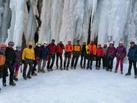 حضور آقا سیدی به عنوان ناظر فدراسیون دوره بازآموزی مدرسان آبشار یخی در مدرسه یخنوردی میگون استان تهران