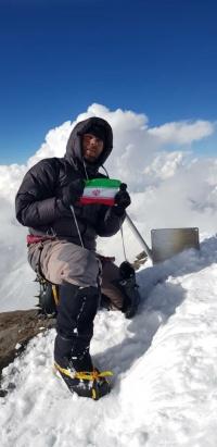 صعود قله کمونیزم(اسماعیل سامانی) توسط آقای امیر رجب علیپور