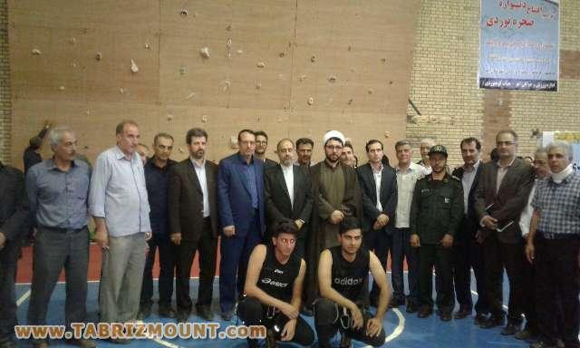 افتتاح دیواره داخل سالن شهرستان اهر