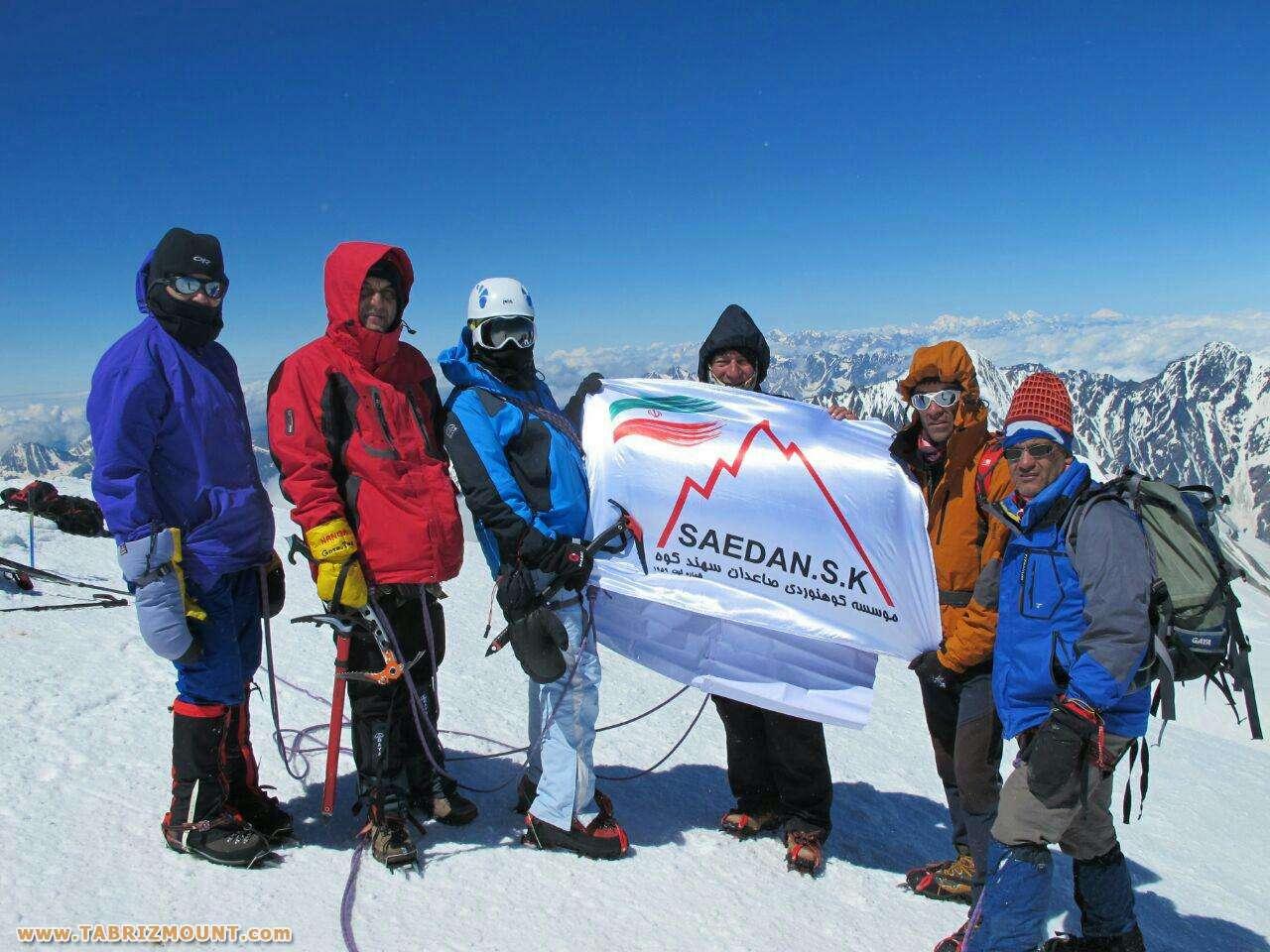 اولین کوه بانوی آذربایجان شرقی بر فراز قله کازبک