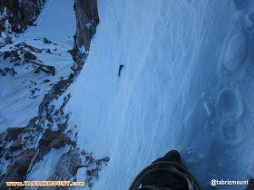 تراورس نقاب برفی تیغه زیر قله هرم دو
