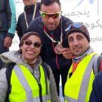 خانم رفعت حسنی و آقای رضا عبدی از داوران مسابقه